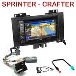 Pack autoradio GPS Mercedes Sprinter depuis 2007 & Volkswagen Crafter depuis 04/2006 - INE-W990BT, INE-W997D ou ILX-700 au choix