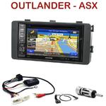 Pack autoradio GPS Mitsubishi ASX et Outlander depuis 2013- INE-W990HDMI, INE-W710D, INE-W987D ou ILX-702D au choix