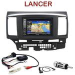 Pack autoradio GPS Mitsubishi Lancer depuis 2007- INE-W990HDMI, INE-W710D, INE-W987D ou ILX-702D au choix