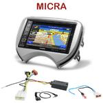 Autoradio GPS Nissan Micra de 2011 à 2013 - INE-W990BT, INE-W997D ou ILX-700 au choix