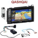 Pack autoradio GPS Nissan Qashqai de 02/2007 à 11/2013 -  INE-W990BT, INE-W997D ou ILX-700 au choix