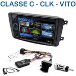 Autoradio 2-DIN Clarion Mercedes CLK, Classe C, Viano et Vito avant 2006 - VX404E