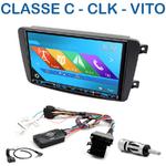 Autoradio 2-DIN GPS NX302E, NX405E, NX505E ou NX706E Mercedes Benz Classe C W203, CLK W209, Viano & Vito