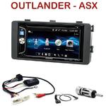 Autoradio 2-DIN Alpine Mitsubishi Outlander et ASX depuis 2013 - CDE-W296BT, IVE-W560BT, IVE-W585BT OU ICS-X8 AU CHOIX