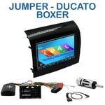 Autoradio 2-DIN GPS NX302E, NX405E, NX505E ou NX706E Fiat Ducato, Citroën Jumper et Peugeot Boxer depuis 05/2014