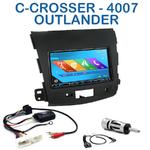Autoradio 2-DIN GPS NX302E, NX405E, NX505E ou NX706E Mitsubishi Outlander, Citroën C-Crosser et Peugeot 4007 depuis 2007
