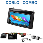 Autoradio 2-DIN GPS NX302E, NX405E, NX505E ou NX706E Fiat Doblo et Opel Combo depuis 2015