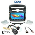 Autoradio 2-DIN GPS NX302E, NX405E, NX505E ou NX706E Hyundai IX20 depuis 2010 - climatisation manuelle