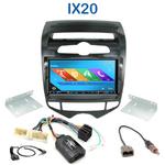 Autoradio 2-DIN GPS NX302E, NX405E, NX505E ou NX706E Hyundai IX20 depuis 2010 - climatisation automatique
