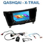 Autoradio 2-DIN GPS NX302E, NX405E, NX505E ou NX706E Nissan Qashqai et X-Trail depuis 2014