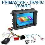 Autoradio 2-DIN GPS NX302E, NX405E, NX505E ou NX706E Renault Trafic Nissan Primastar et Opel Vivaro