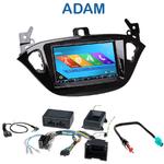 Autoradio 2-DIN GPS NX302E, NX405E, NX505E ou NX706E Opel Adam depuis 2013