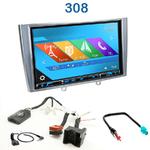 Autoradio 2-DIN GPS NX302E, NX405E, NX505E ou NX706E Peugeot 308, 308CC & 308SW