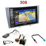 Pack autoradio GPS Peugeot 308 de 09/2007 à 2013 et 308 CC depuis 03/2009 - INE-W990BT, INE-W997D ou ILX-700 au choix