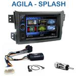 Autoradio 2-DIN Clarion Opel Agila & Suzuki Splash depuis 2008 - VX404E