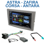 Autoradio 2-DIN Clarion Opel Astra de 04/2004 à 11/2010 Corsa depuis 10/2006 Zafira de 07/2005 à 2012 Antara depuis 2006 - VX404E