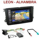 Pack autoradio GPS Seat Leon de 03/2009 à 10/2012 et Alhambra depuis 10/2010 - INE-W990BT, INE-W997D ou ILX-700 au choix