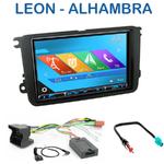 Autoradio 2-DIN GPS NX302E, NX405E, NX505E ou NX706E Seat Leon & Alhambra depuis 2010