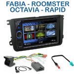 Autoradio 2-DIN Clarion Skoda Fabia, Roomster, Octavia & Rapid - VX404E