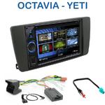 Autoradio 2-DIN Clarion Skoda Octavia II de 04/2004 à 12/2008 & Yeti depuis 2009 - VX404E