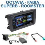 Autoradio 2-DIN Clarion Skoda Octavia, Fabia, Superb & Roomster - VX404E