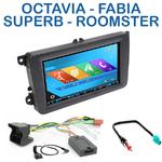 Autoradio 2-DIN GPS NX302E, NX405E, NX505E ou NX706E Skoda Roomster, Octavia, Rapid & Fabia