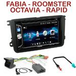 Autoradio 2-DIN Alpine Skoda Fabia, Roomster, Octavia & Rapid - CDE-W296BT, IVE-W560BT OU IVE-W585BT AU CHOIX
