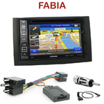 Pack autoradio GPS Skoda Fabia de 01/2003 à 12/2006 - INE-W990BT, INE-W997D ou ILX-700 au choix