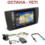 Pack autoradio GPS Skoda Octavia II de 04/2004 à 12/2008 & Yeti depuis 2009 - INE-W990BT, INE-W997D ou ILX-700 au choix