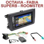 Pack autoradio GPS Skoda Fabia Roomster Octavia et Superb - INE-W990BT, INE-W997D ou ILX-700 au choix