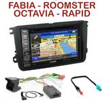 Pack autoradio GPS Skoda Fabia, Roomster, Octavia II et Rapid - INE-W990BT, INE-W997D ou ILX-700 au choix