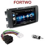 Autoradio 2-DIN Alpine Smart ForTwo de 2007 à 08/2010 - CDE-W296BT, IVE-W560BT OU IVE-W585BT AU CHOIX