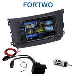 Autoradio 2-DIN Clarion Smart ForTwo depuis 09/2010 - 2 modèles au choix