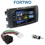 Autoradio 2-DIN Clarion Smart ForTwo de 2007 à 08/2010 - VX404E