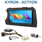Autoradio 2-DIN GPS NX302E, NX405E, NX505E ou NX706E Ssangyong Kyron depuis 2005 & Actyon depuis 2006