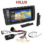 Pack autoradio GPS Toyota Hilux depuis 2012 - INE-W990HDMI, INE-W710D, INE-W987D ou ILX-702D au choix