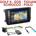 Pack autoradio GPS Volkswagen Caddy, Eos, Golf 5 & 6, Jetta, Passat, Polo, Scirocco, Tiguan, Touran, Beetle, Sharan et Amarok - INE-W990HDMI, INE-W710D, INE-W987D ou ILX-702D au choix