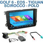 Autoradio 2-DIN GPS NX302E, NX405E, NX505E ou NX706E Volkswagen Amarok Coccinelle Caddy Eos Golf 5 et 6 Jetta Passat Polo Scirocco Sharan Tiguan Touran et T5