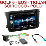 Autoradio 2-DIN Alpine VW Eos Golf 5 et 6 Jetta Passat Polo Scirocco Tiguan Touran - CDE-W296BT, IVE-W560BT OU IVE-W585BT AU CHOIX