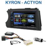 Autoradio 2-DIN Clarion Ssangyong Kyron depuis 2005 & Actyon depuis 2006 - VX404E