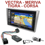Pack autoradio GPS Opel Agila Combo Corsa Meriva Tigra Vectra Vivaro - INE-W990BT, INE-W997D ou ILX-700 au choix