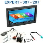 Autoradio 2-DIN GPS NX302E, NX405E, NX505E ou NX706E Peugeot 307, 207 & Partner Tepee