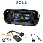 Autoradio 2-DIN Clarion Kia Soul depuis 2014 - VX404E