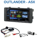 Autoradio 2-DIN Clarion Mitsubishi ASX et Outlander depuis 2013 - VX404E