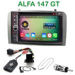 Pack autoradio Android GPS Alfa Romeo 147 de 2000 à 2009 et GT depuis 2005 - WIFI Bluetooth écran tactile HD