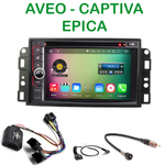 Pack autoradio Android GPS Chevrolet Epica, Captiva et Aveo depuis 2006 - WIFI Bluetooth écran tactile HD
