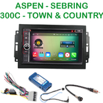 Pack autoradio Android GPS Chrysler 300C, Sebring, Aspen, Town & Country (Remplace autoradio NAV d'origine) - WIFI Bluetooth écran tactile HD