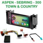 Pack autoradio Android GPS Chrysler 300, Aspen, Sebring et Town & Country depuis 2008 (Remplace autoradio NAV d'origine) - WIFI Bluetooth écran tactile HD