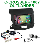 Pack autoradio Android GPS Citroën C-Crosser, Mitsubishi Outlander & Peugeot 4007 depuis 2007 - WIFI Bluetooth écran tactile HD