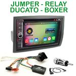 Pack autoradio Android GPS Citroën Jumper, Relay, Fiat Ducato & Peugeot Boxer de 2006 à 2011 - WIFI Bluetooth écran tactile HD
